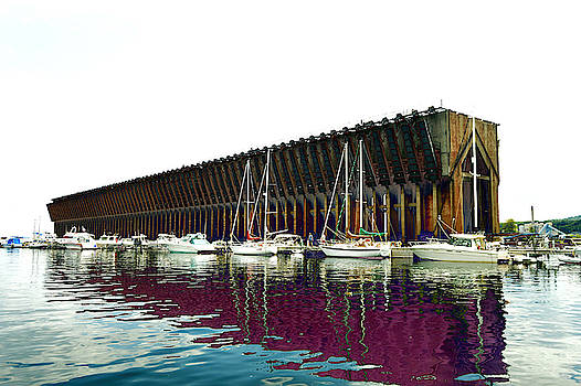 Lower harbor Ore dock at Marquette Michigan. by Tom Kelly