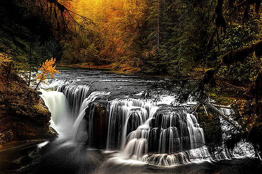 Lower Lewis Falls Autumn by Wes and Dotty Weber