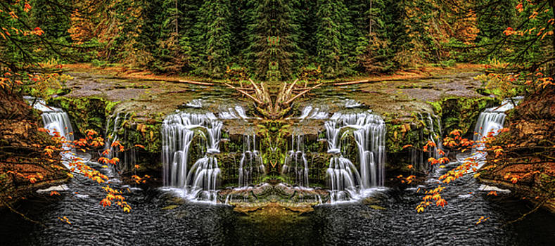 Lower Lewis Falls Make Believe by Wes and Dotty Weber