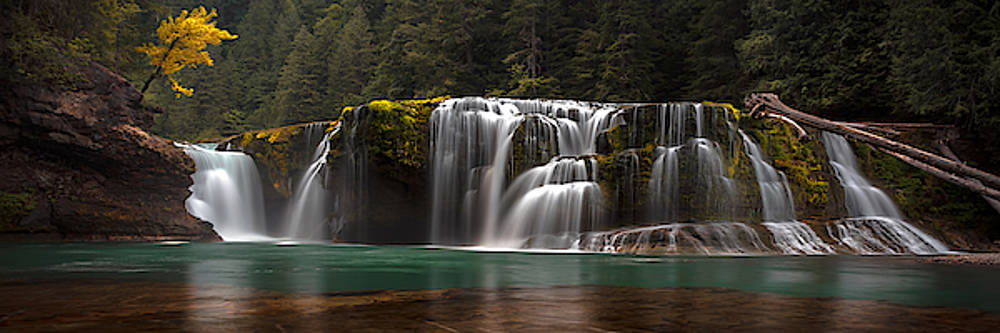 Lower Lewis Falls Pano by Ryan Smith