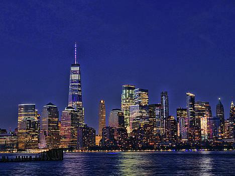Lower Manhattan at Twilight # 2 by Allen Beatty