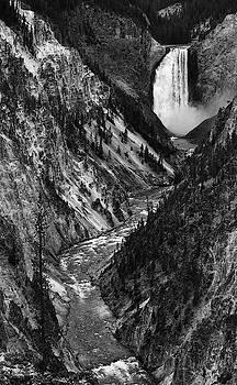 Max Waugh - Lower Yellowstone Falls Monochrome