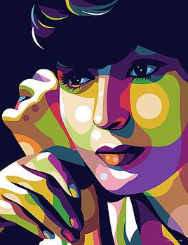 Luise Rainer illustration by Stars on Art