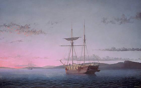 Lumber Schooners At Evening On Penobscot Bay by Fitz Henry Lane