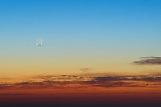 Luna, Venere e Giove by Emanuele Balboni