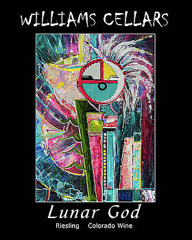 Lunar God Wine Label by Williams Cellars