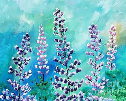 Lupins by Beverly Livingstone