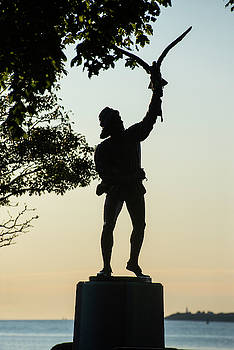 Toby McGuire - Lynch Park Statue at Sunrise Beverly MA