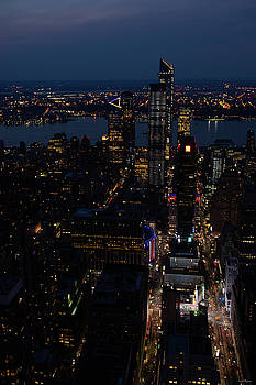 Madison Square Garden at Night by Crystal Wightman