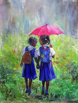 Magenta Umbrella by Jonathan Guy-Gladding JAG