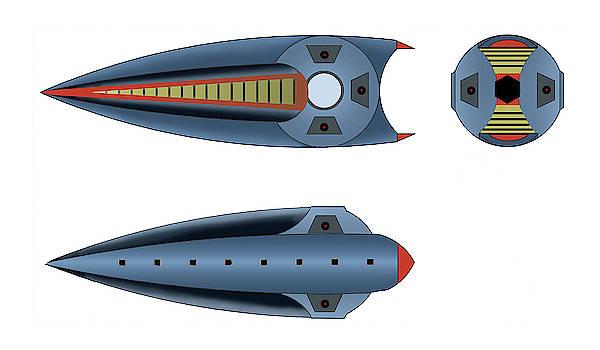 Maggotroll Frigate Schema by Dumitru Sandru