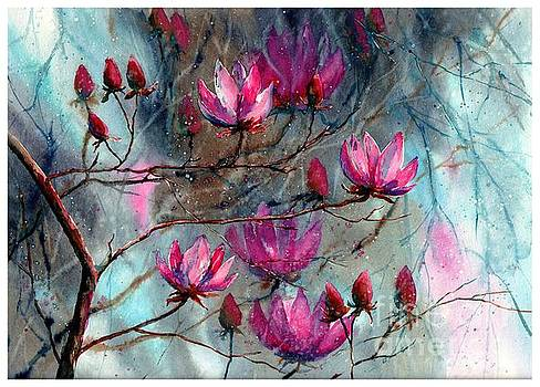 Magnolia At Midnight by Suzann Sines