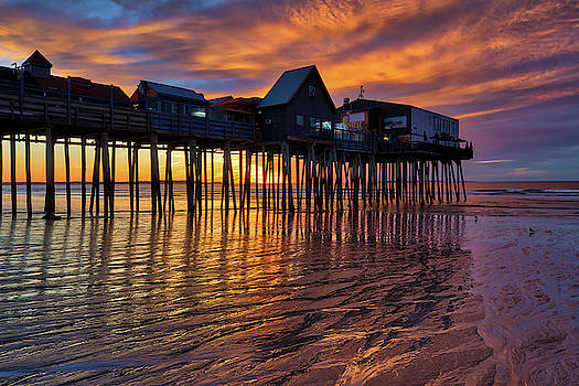 Maine Old Orchard Beach Pier by Juergen Roth