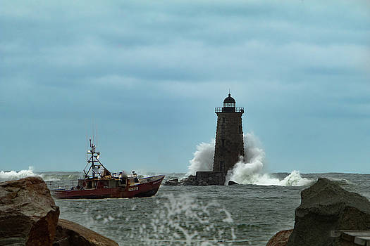 Maine Whaleback Lighthouse by Jeff Folger