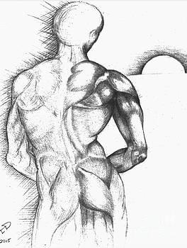 Male Back Study by Drew