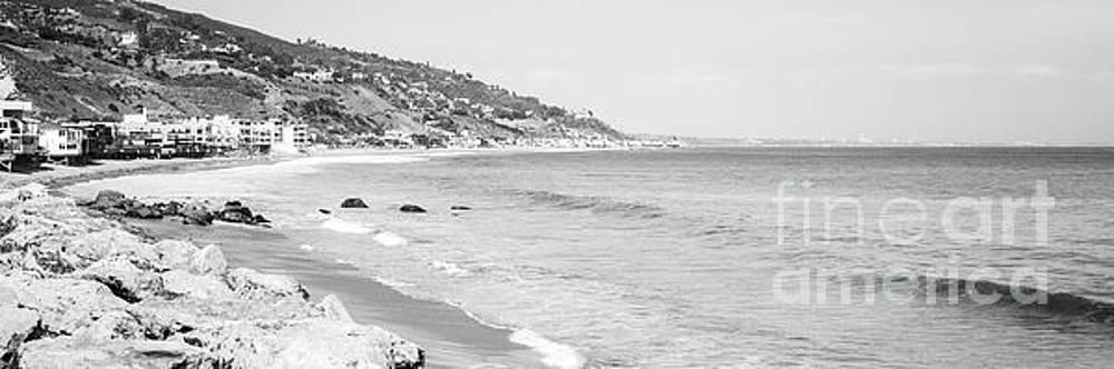 Paul Velgos - Malibu California Black and White Panoramic Photo