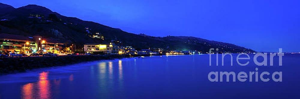 Paul Velgos - Malibu California Coastline at Night Panorama Photo