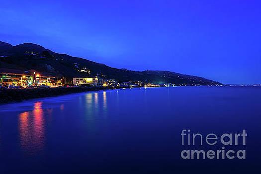 Paul Velgos - Malibu California Coastline at Night Photo
