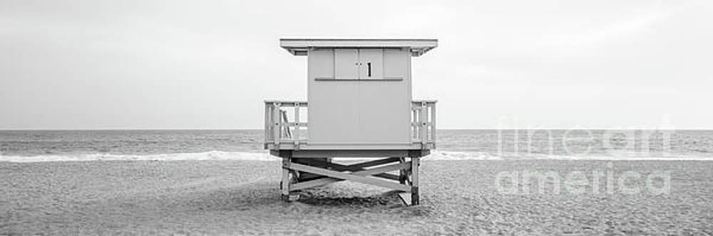 Paul Velgos - Malibu Lifeguard Tower #1 Black and White Panorama Photo