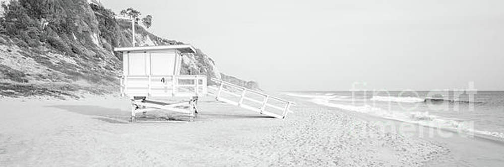 Paul Velgos - Malibu Lifeguard Tower #4 Black and White Panorama Photo