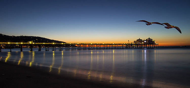 Malibu Pier at Sunrise by John Rodrigues