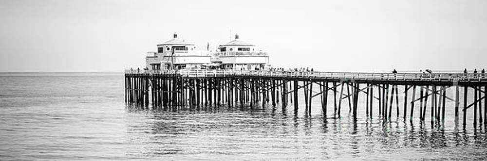 Paul Velgos - Malibu Pier Black and White Panorama Photo