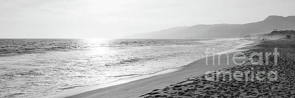 Paul Velgos - Malibu Zuma Beach Black and White Panoramic Photo