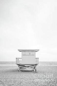 Paul Velgos - Malibu Zuma Beach Lifeguard Tower #1 Black and White Photo