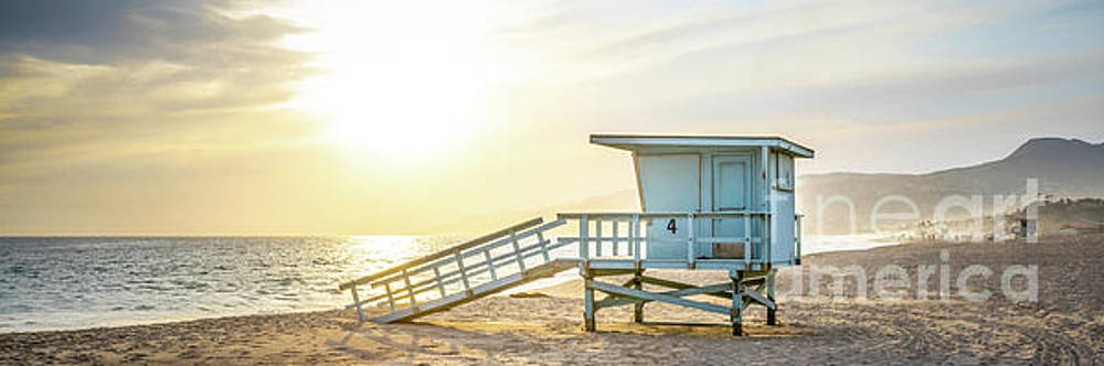 Paul Velgos - Malibu Zuma Beach Lifeguard Tower #4 Sunset Panorama