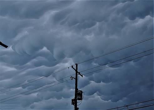 Mammatus Cloud Formations No 3 In The Irish Channel Over New Orleans by Michael Hoard
