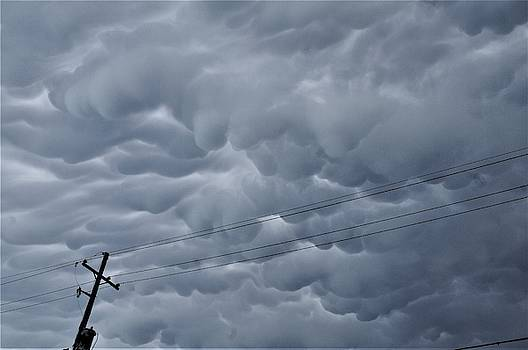 Mammatus Cloud Formations No 5 In The Irish Channel Over New Orleans by Michael Hoard