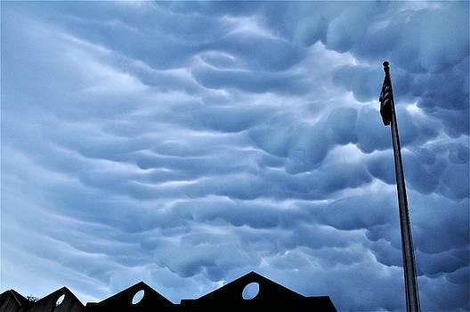 Mammatus Cloud Formations No 9 In The Irish Channel Over New Orleans by Michael Hoard