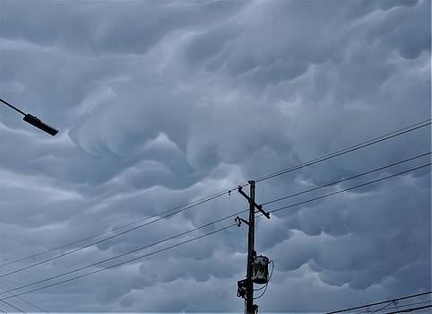 Mammatus Cloud Formationss No 4 In The Irish Channel Over New Orleans by Michael Hoard