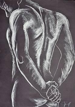 Man Nude Figure 1 by Carmen Tyrrell