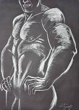 Man Nude Figure 2 by Carmen Tyrrell