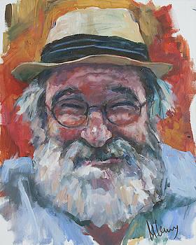 Man with yellow hat by Maxim Komissarchik