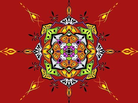 Mandala of Fire by Patryk Pyra