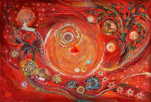 Mandala series #2. Element Fire by Elena Kotliarker