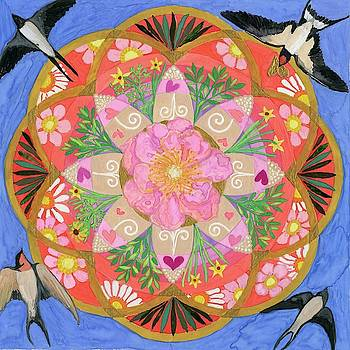 Mandala with Swallows by Sandy Thurlow
