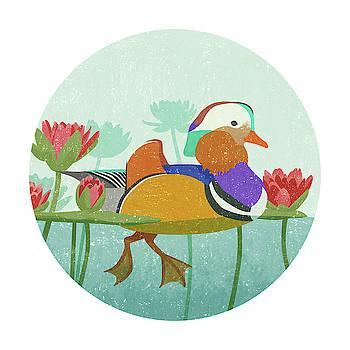 Mandarin Duck by Goed Blauw