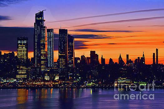 Regina Geoghan - Manhattan Dawn in Blue and Bronze