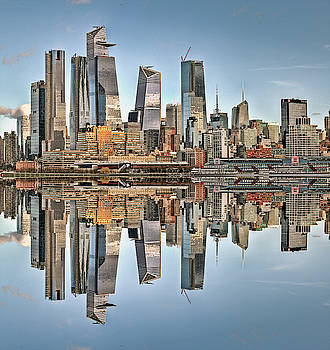 Manhattan skyline reflection series by Geraldine Scull