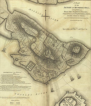 Map of the Battle of Bunker Hill by Steve Estvanik