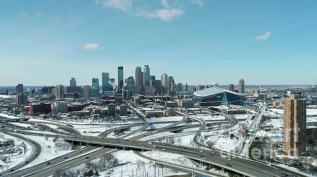 March Downtown Minneapolis Skyline by Pictures Over Stillwater
