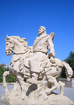 Marco Polo statue, Beijing, China by Steve Clarke