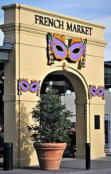 Mardi Gras And The French Market In New Orleans by Michael Hoard