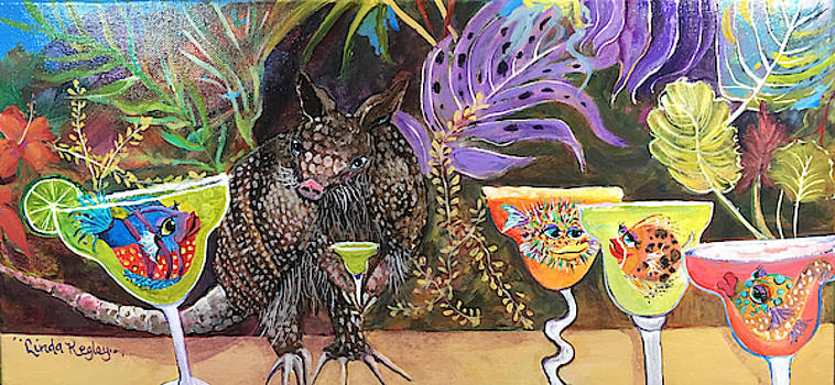 Margarita Time with Mr. Armadillo II by Linda Kegley