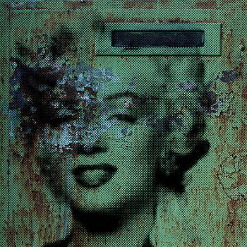 Marilyn Grunge in Green by Robert R Splashy Art Abstract Paintings