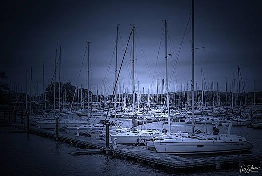 Marina At Twilight  by Phil S Addis