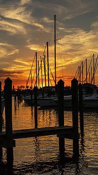 Marina Sunset by Kelly Kennon